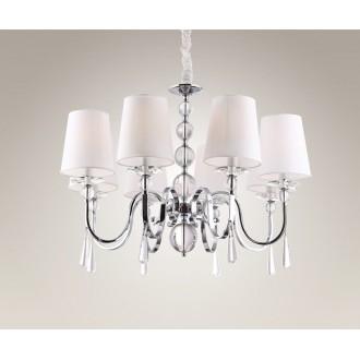 MAXLIGHT P0110 | CharlotteM Maxlight csillár lámpa 8x E14 króm, fehér, átlátszó