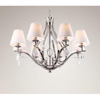 MAXLIGHT P0111 | Palace Maxlight csillár lámpa 8x E14 króm, fehér, átlátszó