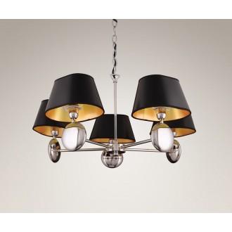 MAXLIGHT P0127 | Napoleon Maxlight csillár lámpa 5x E14 króm, fekete, arany