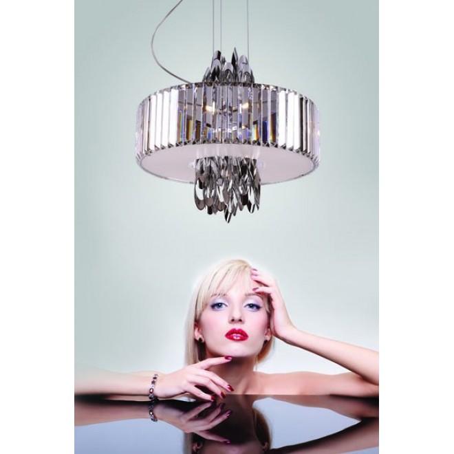 MAXLIGHT P0285 | Olimpic Maxlight csillár lámpa 5x E14 króm, fehér