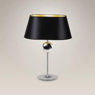 MAXLIGHT T0021 | Napoleon Maxlight asztali lámpa 54cm kapcsoló 1x E27 króm, fekete, arany