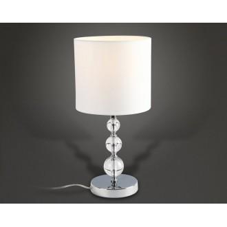 MAXLIGHT T0031 | EleganceM Maxlight asztali lámpa 45cm kapcsoló 1x E27 fehér, króm, átlátszó