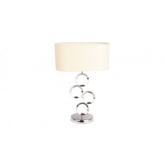 MAXLIGHT T0034 | Olimpic Maxlight asztali lámpa 64cm kapcsoló 1x E14 króm, fehér