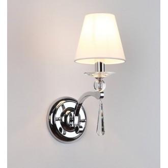 MAXLIGHT W0066 | Lisbona Maxlight falikar lámpa 1x E14 króm, fehér, átlátszó