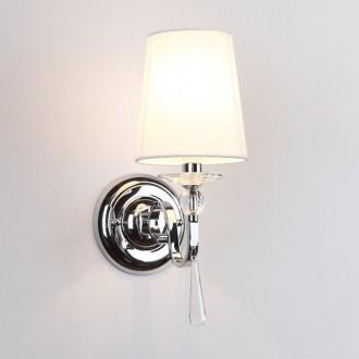 MAXLIGHT W0067 | CharlotteM Maxlight falikar lámpa 1x E14 króm, fehér, átlátszó
