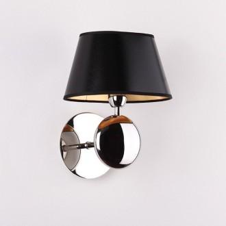 MAXLIGHT W0120 | Napoleon Maxlight falikar lámpa 1x E14 króm, fekete, arany