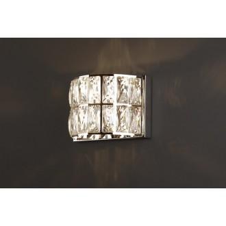 MAXLIGHT W0204 | Diamante Maxlight fali lámpa 1x G9 króm, átlátszó