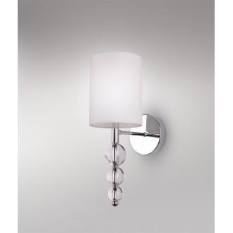 MAXLIGHT W0600 | EleganceM Maxlight falikar lámpa 1x E14 fehér, króm, átlátszó
