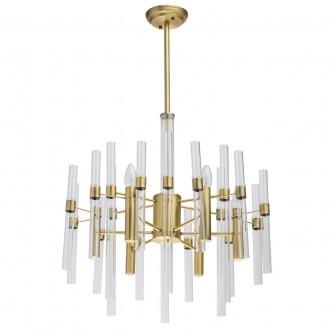 MW-LIGHT 285010806 | Alghero Mw-Light csillár lámpa 6x E14 2580lm arany, átlátszó