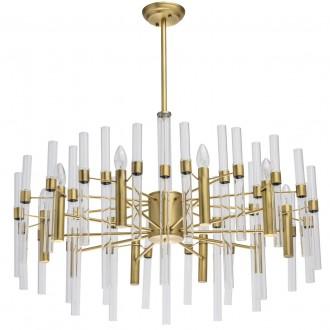 MW-LIGHT 285010910 | Alghero Mw-Light csillár lámpa 10x E14 4300lm arany, átlátszó