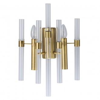 MW-LIGHT 285021002 | Alghero Mw-Light falikar lámpa 2x E14 860lm arany, átlátszó
