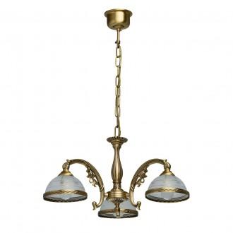 MW-LIGHT 295010903   Amanda-MW Mw-Light csillár lámpa 3x E27 1935lm antikolt réz, opál