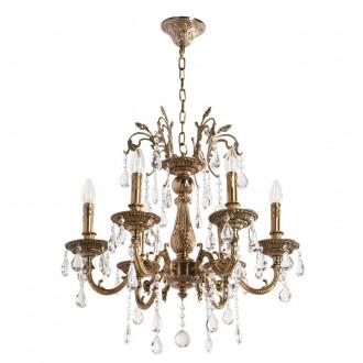 MW-LIGHT 301013506 | Candle-MW Mw-Light csillár lámpa 6x E14 3870lm antikolt arany, kristály
