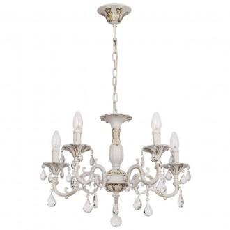 MW-LIGHT 301014605 | Candle-MW Mw-Light csillár lámpa 5x E14 3225lm antikolt fehér, kristály