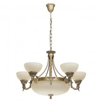 MW-LIGHT 317010708 | Aphrodite-MW Mw-Light csillár lámpa 5x E27 5160lm + 3x E14 antikolt réz, bézs