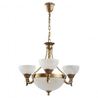 MW-LIGHT 317012006 | Aphrodite-MW Mw-Light csillár lámpa 3x E27 3225lm + 3x E14 mattított arany, opál