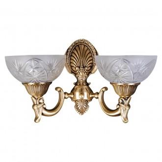 MW-LIGHT 317021902 | Aphrodite-MW Mw-Light falikar lámpa 2x E27 1290lm mattított arany, opál