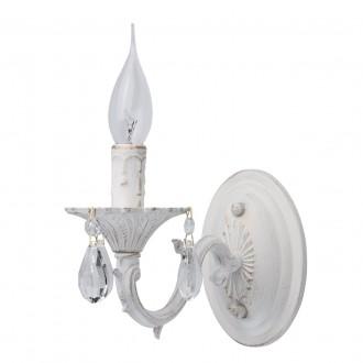 MW-LIGHT 371022501 | Aurora-MW Mw-Light falikar lámpa 1x E14 645lm antikolt fehér, kristály