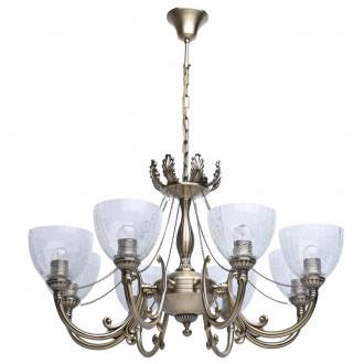MW-LIGHT 481011608 | Amanda-MW Mw-Light csillár lámpa 8x E27 5160lm antikolt réz, átlátszó