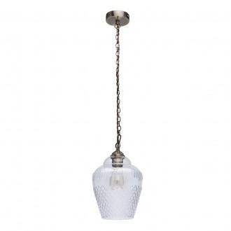 MW-LIGHT 481012001 | Amanda-MW Mw-Light függeszték lámpa 1x E27 645lm antikolt réz, átlátszó