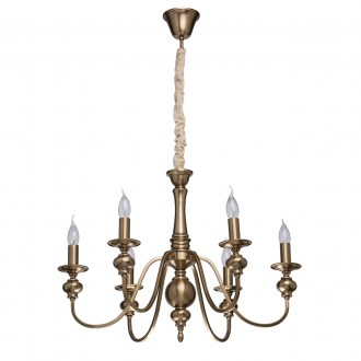 MW-LIGHT 614010506 | Consuelo Mw-Light csillár lámpa 6x E14 2580lm antikolt réz