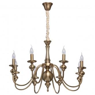 MW-LIGHT 614010608 | Consuelo Mw-Light csillár lámpa 8x E14 3440lm antikolt réz