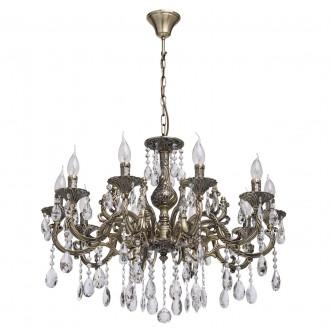 MW-LIGHT 685010110 | Toscana-MW Mw-Light csillár lámpa 10x E14 4300lm antikolt réz, kristály