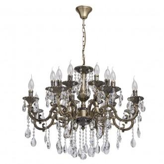 MW-LIGHT 685010216 | Toscana-MW Mw-Light csillár lámpa 16x E14 6880lm antikolt réz, kristály