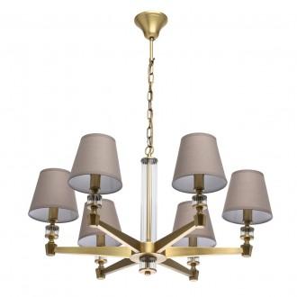 MW-LIGHT 700012106 | DelRey Mw-Light csillár lámpa 6x E14 2580lm sárgaréz, bézs, átlátszó