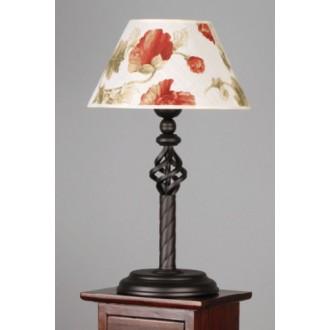 NAMAT 004 | Fara Namat asztali lámpa 50cm kapcsoló 1x E27 wenge, fehér, többszínű