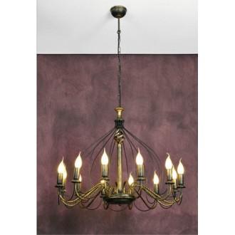NAMAT 1192 | Claris Namat csillár lámpa 12x E14 antikolt bronz