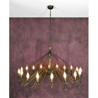 NAMAT 1193 | Claris Namat csillár lámpa 18x E14 antikolt bronz