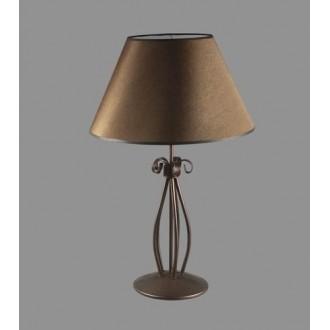 NAMAT 1223/3 | Negros Namat asztali lámpa 62cm kapcsoló 1x E27 barna, fehér
