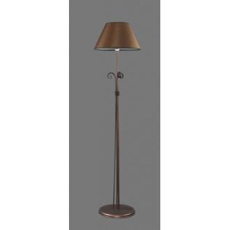 NAMAT 1224/3 | Negros Namat álló lámpa 175cm kapcsoló 1x E27 barna, fehér