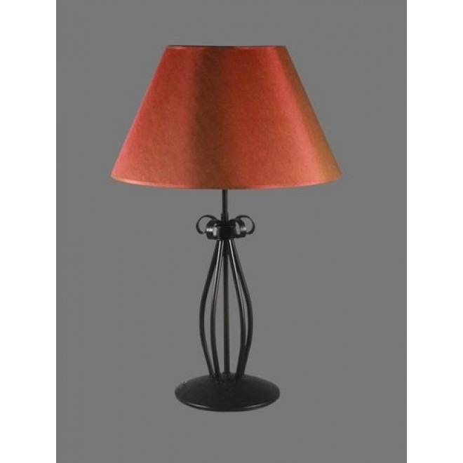 NAMAT 1225/11 | Tores Namat asztali lámpa 62cm kapcsoló 1x E27 fekete, piros, fehér