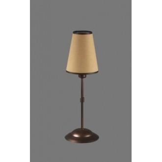 NAMAT 1233/5 | Teri Namat asztali lámpa 40cm kapcsoló 1x E14 barna, bézs, fehér
