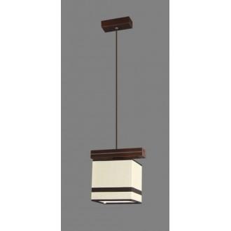 NAMAT 1263/2 | Barsa2 Namat függeszték lámpa 1x E27 fehér, barna