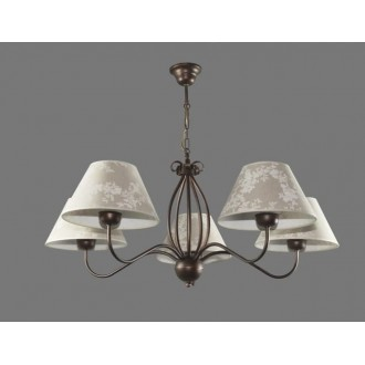NAMAT 1283/8 | Boren Namat csillár lámpa 5x E27 barna, többszínű