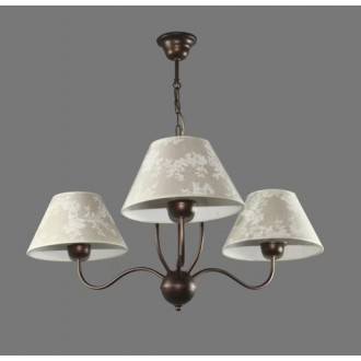 NAMAT 1284/8   Boren Namat csillár lámpa 3x E27 barna, többszínű