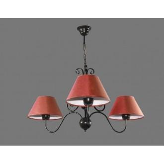 NAMAT 1305/11   Tores Namat csillár lámpa 3x E27 fekete, piros, fehér