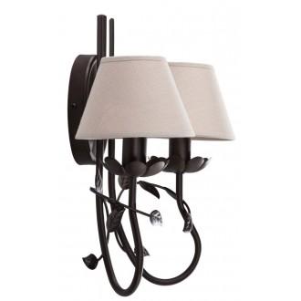 NAMAT 2216 | Egidia-Fabiana Namat falikar lámpa 2x E14 wenge, bézs