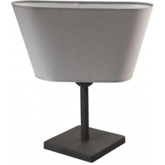 NAMAT 2376 | Werena Namat asztali lámpa 37cm kapcsoló 1x E27 szürke, fehér