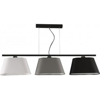NAMAT 2997 | Werena Namat mennyezeti lámpa 3x E27 fekete, fehér, szürke