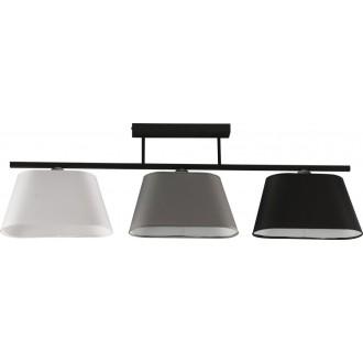 NAMAT 3006 | Werena Namat mennyezeti lámpa 3x E27 fekete, fehér, szürke