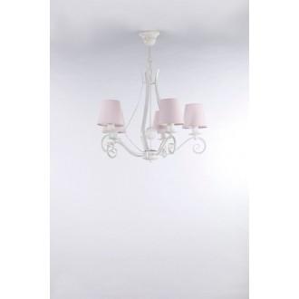 NAMAT 3503 | Szedar Namat csillár lámpa 5x E14 matt fehér, halvány rózsaszín