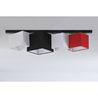 NAMAT 3720 | N4K-Geometria Namat mennyezeti lámpa 4x E27 fekete, fehér, piros