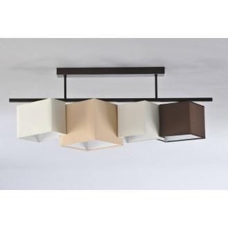 NAMAT 3731 | N4K-Geometria Namat mennyezeti lámpa 4x E27 krémszín, karamell, wenge
