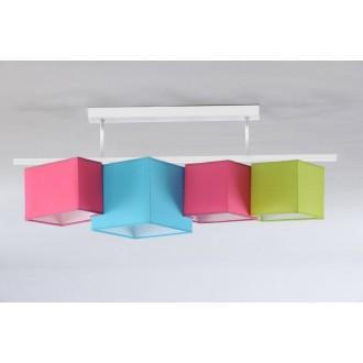 NAMAT 3732 | N4K-Geometria Namat mennyezeti lámpa 4x E27 rózsaszín, türkiz, pisztácia