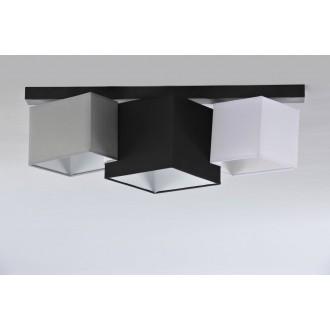 NAMAT 3751 | N3K-Puzzle Namat mennyezeti lámpa 3x E27 fekete, fehér, szürke