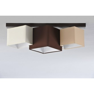 NAMAT 3756 | N3K-Puzzle Namat mennyezeti lámpa 3x E27 wenge, krémszín, karamell